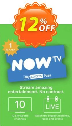 NOW TV - 1 Month Sports Pass Coupon, discount NOW TV - 1 Month Sports Pass Deal. Promotion: NOW TV - 1 Month Sports Pass Exclusive offer for iVoicesoft