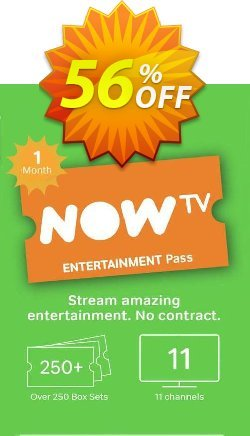 NOW TV - 1 Month Entertainment Pass Coupon discount NOW TV - 1 Month Entertainment Pass Deal - NOW TV - 1 Month Entertainment Pass Exclusive offer for iVoicesoft