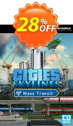 Cities: Skylines PC - Mass Transit DLC Coupon discount Cities: Skylines PC - Mass Transit DLC Deal - Cities: Skylines PC - Mass Transit DLC Exclusive offer for iVoicesoft