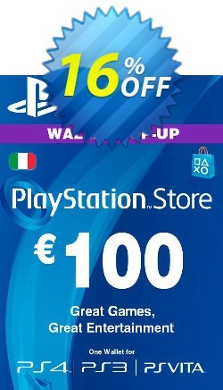 Playstation Network - PSN Card - 100 EUR - Italy  Coupon discount Playstation Network (PSN) Card - 100 EUR (Italy) Deal - Playstation Network (PSN) Card - 100 EUR (Italy) Exclusive offer for iVoicesoft