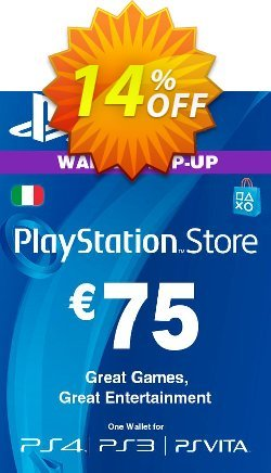 Playstation Network - PSN Card - 75 EUR - Italy  Coupon discount Playstation Network (PSN) Card - 75 EUR (Italy) Deal - Playstation Network (PSN) Card - 75 EUR (Italy) Exclusive offer for iVoicesoft