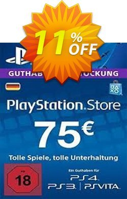 PlayStation Network - PSN Card - 75 EUR - Germany  Coupon discount PlayStation Network (PSN) Card - 75 EUR (Germany) Deal. Promotion: PlayStation Network (PSN) Card - 75 EUR (Germany) Exclusive offer for iVoicesoft