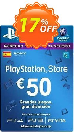 PlayStation Network - PSN Card - 50 EUR - Spain  Coupon discount PlayStation Network (PSN) Card - 50 EUR (Spain) Deal - PlayStation Network (PSN) Card - 50 EUR (Spain) Exclusive offer for iVoicesoft