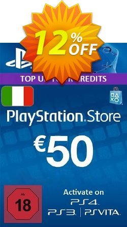 PlayStation Network - PSN Card - 50 EUR - Italy  Coupon discount PlayStation Network (PSN) Card - 50 EUR (Italy) Deal - PlayStation Network (PSN) Card - 50 EUR (Italy) Exclusive offer for iVoicesoft
