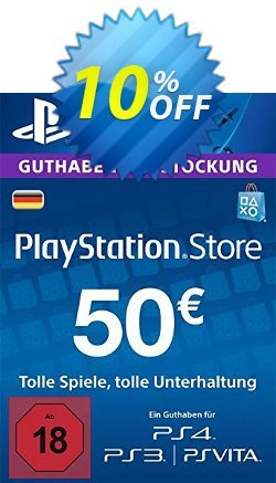 PlayStation Network - PSN Card - 50 EUR - Germany  Coupon discount PlayStation Network (PSN) Card - 50 EUR (Germany) Deal - PlayStation Network (PSN) Card - 50 EUR (Germany) Exclusive offer for iVoicesoft