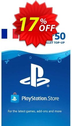 PlayStation Network - PSN Card - 50 EUR - France  Coupon discount PlayStation Network (PSN) Card - 50 EUR (France) Deal - PlayStation Network (PSN) Card - 50 EUR (France) Exclusive offer for iVoicesoft