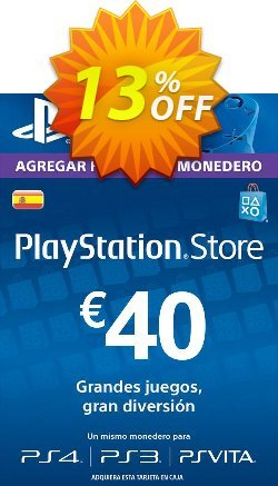 PlayStation Network - PSN Card - 40 EUR - Spain  Coupon discount PlayStation Network (PSN) Card - 40 EUR (Spain) Deal - PlayStation Network (PSN) Card - 40 EUR (Spain) Exclusive offer for iVoicesoft