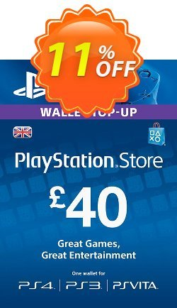 Playstation Network Card - £40 - PS Vita/PS3/PS4  Coupon discount Playstation Network Card - £40 (PS Vita/PS3/PS4) Deal - Playstation Network Card - £40 (PS Vita/PS3/PS4) Exclusive offer for iVoicesoft