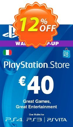 Playstation Network - PSN Card - 40 EUR - Italy  Coupon discount Playstation Network (PSN) Card - 40 EUR (Italy) Deal - Playstation Network (PSN) Card - 40 EUR (Italy) Exclusive offer for iVoicesoft