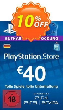 PlayStation Network - PSN Card - 40 EUR - Germany  Coupon discount PlayStation Network (PSN) Card - 40 EUR (Germany) Deal - PlayStation Network (PSN) Card - 40 EUR (Germany) Exclusive offer for iVoicesoft