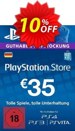 PlayStation Network - PSN Card - 35 EUR - Germany  Coupon discount PlayStation Network (PSN) Card - 35 EUR (Germany) Deal - PlayStation Network (PSN) Card - 35 EUR (Germany) Exclusive offer for iVoicesoft