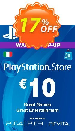 Playstation Network - PSN Card - 10 EUR - Italy  Coupon discount Playstation Network (PSN) Card - 10 EUR (Italy) Deal. Promotion: Playstation Network (PSN) Card - 10 EUR (Italy) Exclusive offer for iVoicesoft