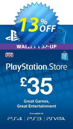 Playstation Network Card - £35 - PS Vita/PS3/PS4  Coupon discount Playstation Network Card - £35 (PS Vita/PS3/PS4) Deal - Playstation Network Card - £35 (PS Vita/PS3/PS4) Exclusive offer for iVoicesoft