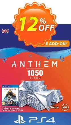 Anthem 1050 Shards PS4 - UK  Coupon discount Anthem 1050 Shards PS4 (UK) Deal - Anthem 1050 Shards PS4 (UK) Exclusive offer for iVoicesoft