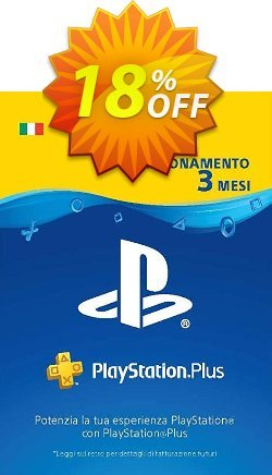 PlayStation Plus - PS+ - 3 Month Subscription - Italy  Coupon discount PlayStation Plus (PS+) - 3 Month Subscription (Italy) Deal - PlayStation Plus (PS+) - 3 Month Subscription (Italy) Exclusive offer for iVoicesoft