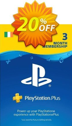 PlayStation Plus - 3 Month Subscription - Ireland  Coupon discount PlayStation Plus - 3 Month Subscription (Ireland) Deal - PlayStation Plus - 3 Month Subscription (Ireland) Exclusive offer for iVoicesoft