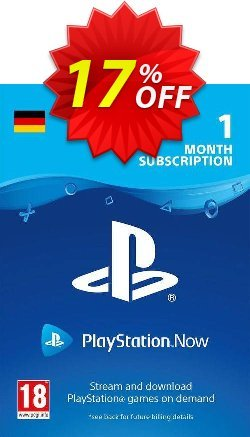 PlayStation Now 1 Month Subscription - Germany  Coupon discount PlayStation Now 1 Month Subscription (Germany) Deal - PlayStation Now 1 Month Subscription (Germany) Exclusive offer for iVoicesoft