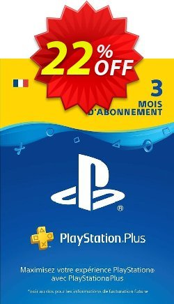 PlayStation Plus - PS+ - 3 Month Subscription - France  Coupon discount PlayStation Plus (PS+) - 3 Month Subscription (France) Deal - PlayStation Plus (PS+) - 3 Month Subscription (France) Exclusive offer for iVoicesoft