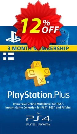 Playstation Plus - 3 Month Subscription - Finland  Coupon discount Playstation Plus - 3 Month Subscription (Finland) Deal - Playstation Plus - 3 Month Subscription (Finland) Exclusive offer for iVoicesoft