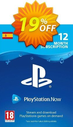PlayStation Now 12 Month Subscription - Spain  Coupon discount PlayStation Now 12 Month Subscription (Spain) Deal - PlayStation Now 12 Month Subscription (Spain) Exclusive offer for iVoicesoft