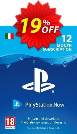 PlayStation Now 12 Month Subscription - Italy  Coupon discount PlayStation Now 12 Month Subscription (Italy) Deal - PlayStation Now 12 Month Subscription (Italy) Exclusive offer for iVoicesoft