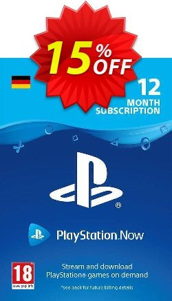 PlayStation Now 12 Month Subscription - Germany  Coupon discount PlayStation Now 12 Month Subscription (Germany) Deal - PlayStation Now 12 Month Subscription (Germany) Exclusive offer for iVoicesoft
