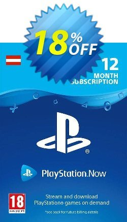 PlayStation Now 12 Month Subscription - Austria  Coupon discount PlayStation Now 12 Month Subscription (Austria) Deal - PlayStation Now 12 Month Subscription (Austria) Exclusive offer for iVoicesoft