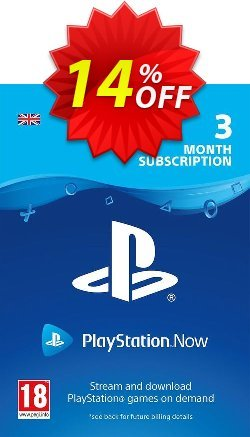 PlayStation Now 3 Month Subscription - UK  Coupon discount PlayStation Now 3 Month Subscription (UK) Deal - PlayStation Now 3 Month Subscription (UK) Exclusive offer for iVoicesoft