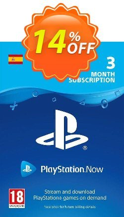 PlayStation Now 3 Month Subscription - Spain  Coupon discount PlayStation Now 3 Month Subscription (Spain) Deal - PlayStation Now 3 Month Subscription (Spain) Exclusive offer for iVoicesoft