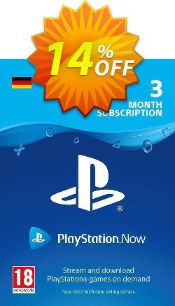 PlayStation Now 3 Month Subscription - Germany  Coupon discount PlayStation Now 3 Month Subscription (Germany) Deal - PlayStation Now 3 Month Subscription (Germany) Exclusive offer for iVoicesoft