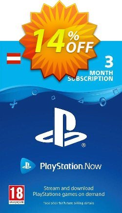 PlayStation Now 3 Month Subscription - Austria  Coupon discount PlayStation Now 3 Month Subscription (Austria) Deal - PlayStation Now 3 Month Subscription (Austria) Exclusive offer for iVoicesoft