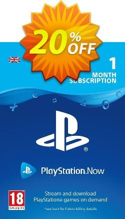 PlayStation Now 1 Month Subscription - UK  Coupon discount PlayStation Now 1 Month Subscription (UK) Deal - PlayStation Now 1 Month Subscription (UK) Exclusive offer for iVoicesoft