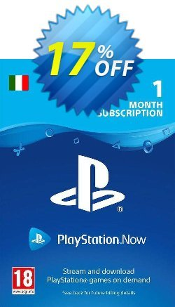 PlayStation Now 1 Month Subscription - Italy  Coupon discount PlayStation Now 1 Month Subscription (Italy) Deal - PlayStation Now 1 Month Subscription (Italy) Exclusive offer for iVoicesoft