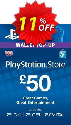 Playstation Network - PSN Card - £50 - UK  Coupon discount Playstation Network (PSN) Card - £50 (UK) Deal - Playstation Network (PSN) Card - £50 (UK) Exclusive offer for iVoicesoft