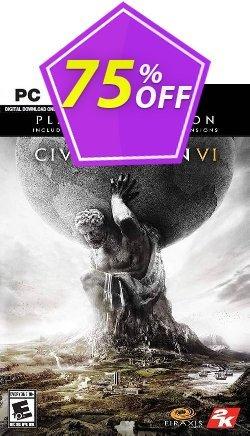 Sid Meier's Civilization VI 6: Platinum Edition PC - EU  Coupon discount Sid Meier's Civilization VI 6: Platinum Edition PC (EU) Deal - Sid Meier's Civilization VI 6: Platinum Edition PC (EU) Exclusive offer for iVoicesoft