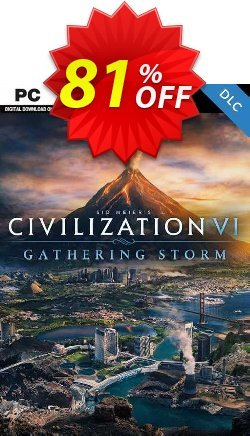 Sid Meiers Civilization VI 6 PC Gathering Storm DLC - EU  Coupon discount Sid Meiers Civilization VI 6 PC Gathering Storm DLC (EU) Deal - Sid Meiers Civilization VI 6 PC Gathering Storm DLC (EU) Exclusive offer for iVoicesoft