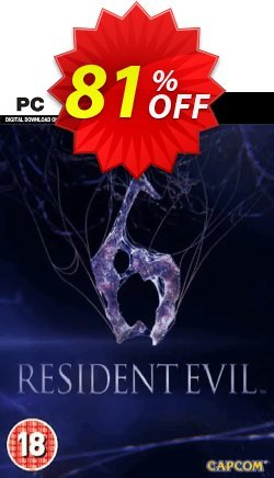 Resident Evil 6 PC Coupon discount Resident Evil 6 PC Deal - Resident Evil 6 PC Exclusive offer for iVoicesoft
