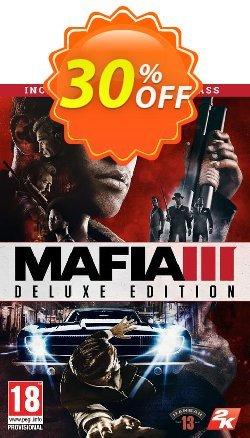 Mafia III 3 Deluxe Edition PC Coupon, discount Mafia III 3 Deluxe Edition PC Deal. Promotion: Mafia III 3 Deluxe Edition PC Exclusive offer for iVoicesoft