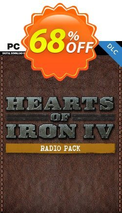 Hearts of Iron IV 4 PC: Radio Pack DLC Coupon discount Hearts of Iron IV 4 PC: Radio Pack DLC Deal. Promotion: Hearts of Iron IV 4 PC: Radio Pack DLC Exclusive offer for iVoicesoft