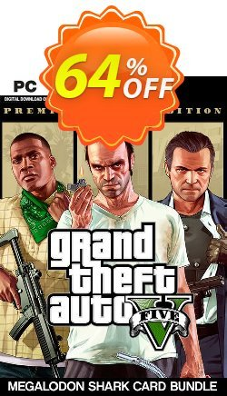 Grand Theft Auto V: Premium Online Edition & Megalodon Shark Card Bundle PC Coupon discount Grand Theft Auto V: Premium Online Edition & Megalodon Shark Card Bundle PC Deal - Grand Theft Auto V: Premium Online Edition & Megalodon Shark Card Bundle PC Exclusive offer for iVoicesoft