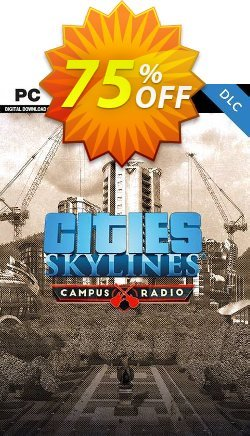 Cities Skylines PC - Campus Rock Radio DLC Coupon discount Cities Skylines PC - Campus Rock Radio DLC Deal - Cities Skylines PC - Campus Rock Radio DLC Exclusive offer for iVoicesoft