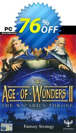 Age of Wonders II 2: The Wizards Throne PC Coupon discount Age of Wonders II 2: The Wizards Throne PC Deal - Age of Wonders II 2: The Wizards Throne PC Exclusive offer for iVoicesoft