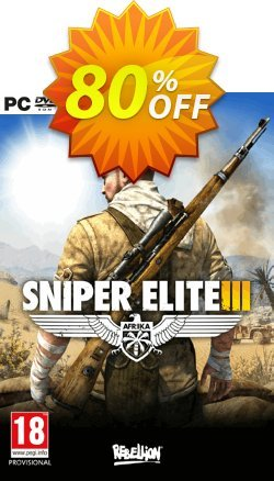 Sniper Elite 3 Afrika PC Coupon discount Sniper Elite 3 Afrika PC Deal - Sniper Elite 3 Afrika PC Exclusive offer for iVoicesoft