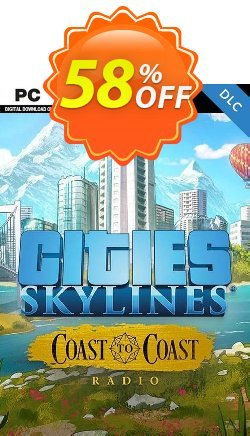 Cities Skylines - Coast to Coast Radio PC Coupon discount Cities Skylines - Coast to Coast Radio PC Deal - Cities Skylines - Coast to Coast Radio PC Exclusive Easter Sale offer for iVoicesoft