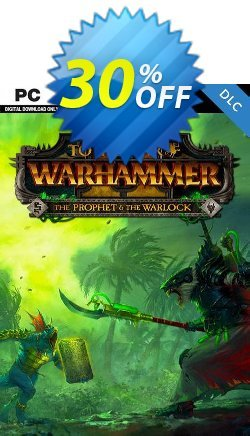 Total War: Warhammer II 2 - The Prophet & The Warlock DLC PC - WW  Coupon discount Total War: Warhammer II 2 - The Prophet & The Warlock DLC PC (WW) Deal - Total War: Warhammer II 2 - The Prophet & The Warlock DLC PC (WW) Exclusive Easter Sale offer for iVoicesoft