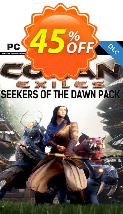 Conan Exiles PC - Seekers of the Dawn Pack DLC Coupon discount Conan Exiles PC - Seekers of the Dawn Pack DLC Deal. Promotion: Conan Exiles PC - Seekers of the Dawn Pack DLC Exclusive Easter Sale offer for iVoicesoft