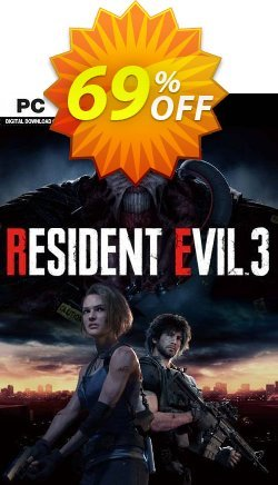 Resident Evil 3 PC Coupon discount Resident Evil 3 PC Deal - Resident Evil 3 PC Exclusive Easter Sale offer for iVoicesoft