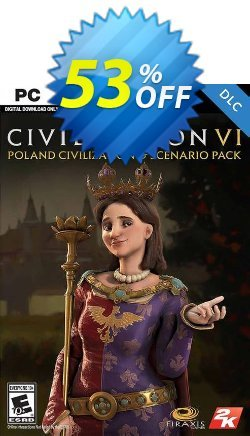Sid Meier's Civilization VI: Poland Civilization and Scenario Pack PC - WW  Coupon discount Sid Meier's Civilization VI: Poland Civilization and Scenario Pack PC (WW) Deal - Sid Meier's Civilization VI: Poland Civilization and Scenario Pack PC (WW) Exclusive Easter Sale offer for iVoicesoft