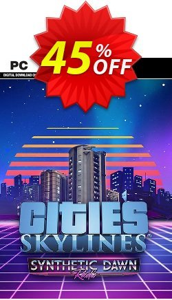 Cities Skylines PC - Synthetic Dawn Radio DLC Coupon discount Cities Skylines PC - Synthetic Dawn Radio DLC Deal - Cities Skylines PC - Synthetic Dawn Radio DLC Exclusive Easter Sale offer for iVoicesoft