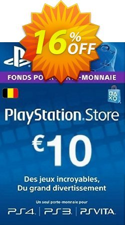 PlayStation Network - PSN Card - 10 EUR - Belgium  Coupon discount PlayStation Network (PSN) Card - 10 EUR (Belgium) Deal. Promotion: PlayStation Network (PSN) Card - 10 EUR (Belgium) Exclusive Easter Sale offer for iVoicesoft